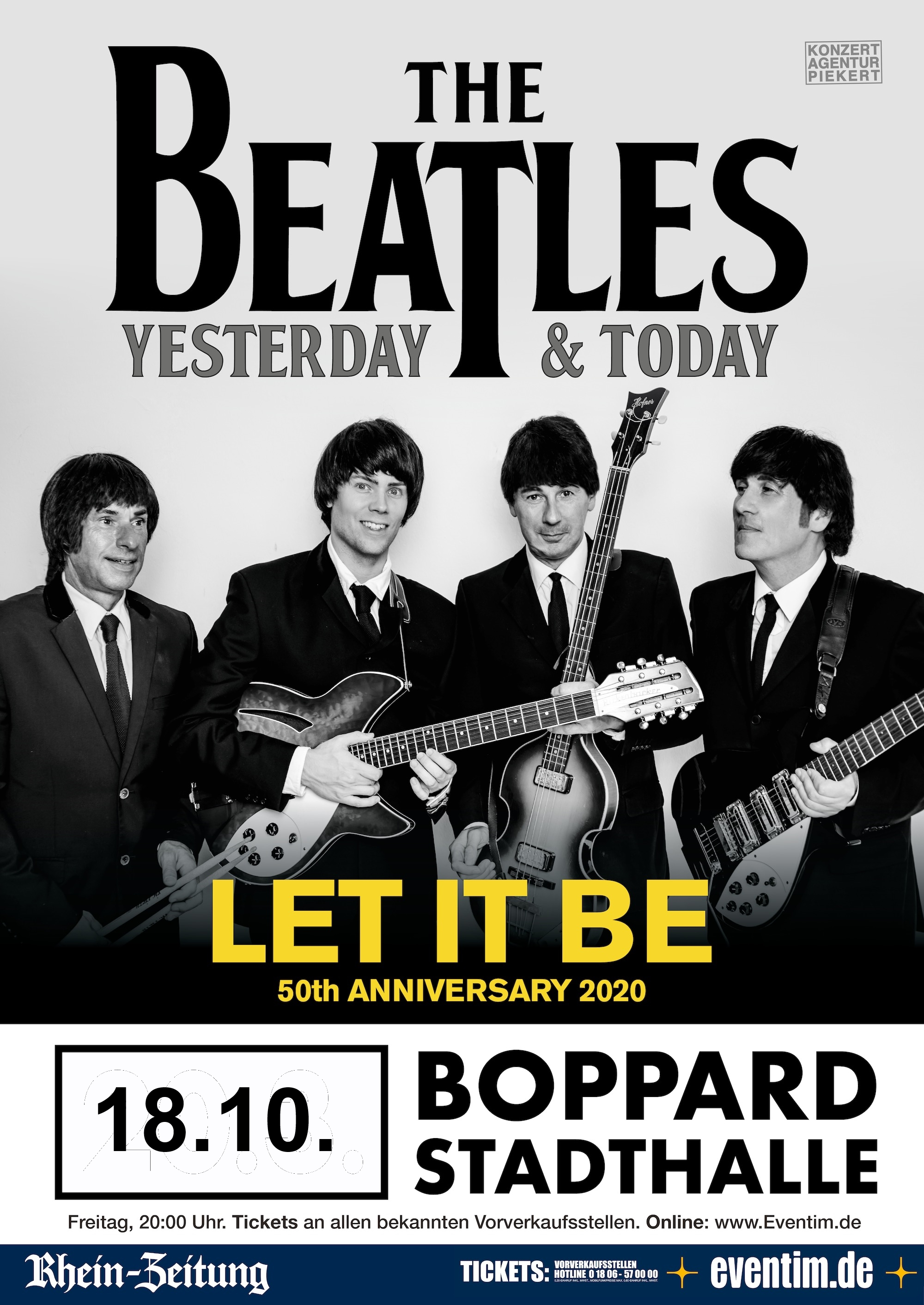 THE BEATLES - YESTERDAY & TODAY LET IT BE - 50th Anniversary Tour 2020